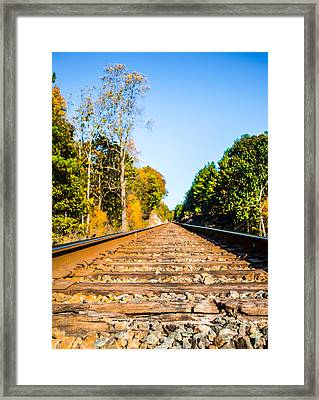 Autumn On The Railroad Framed Print by Parker Cunningham