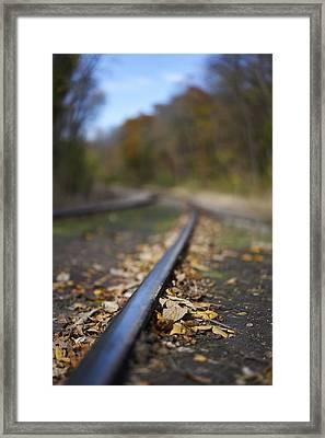 Autumn On The Rails Framed Print by Matt Veldey