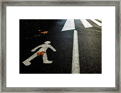 Autumn On The Road Framed Print by Kikroune (christian R.)