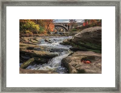 Autumn On The Rocky River Framed Print by Michael Demagall