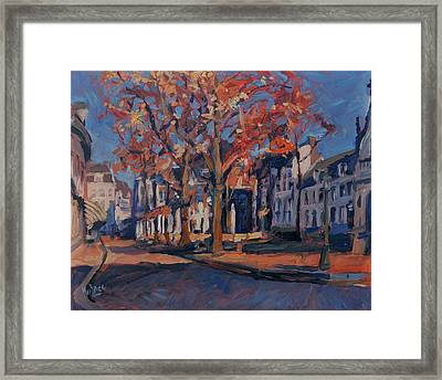 Autumn On The Square Of Our Lady Maastricht Framed Print