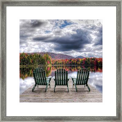 Framed Print featuring the photograph Autumn On West Lake by David Patterson