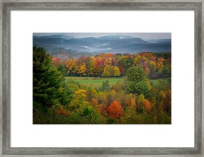 Framed Print featuring the photograph Autumn On Winslow Hill by Cindy Lark Hartman