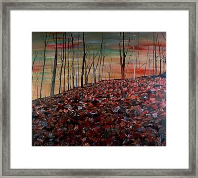 Autumn Framed Print by Oudi Arroni