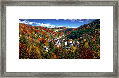 Autumn Panorama Framed Print