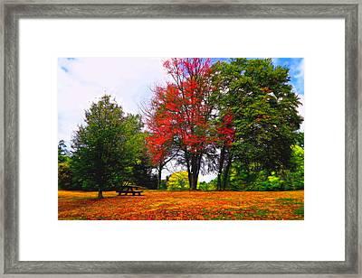 Autumn Park Painterly Framed Print