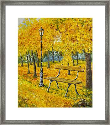 Autumn Park Framed Print by Veikko Suikkanen