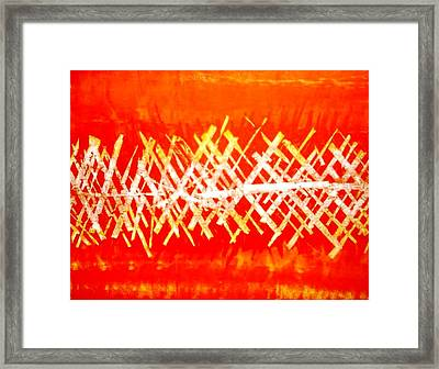 Autumn Path Framed Print by Baljit Chadha