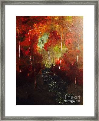 Framed Print featuring the painting Sunset Trail by Denise Tomasura