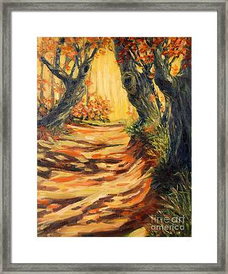 Autumn Pathways Framed Print