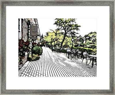 Autumn Patio Framed Print