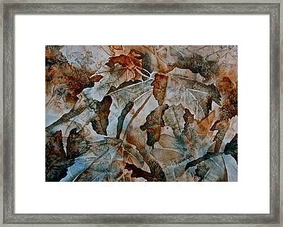 Autumn Patterns Framed Print
