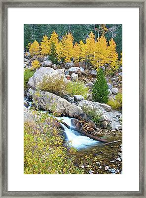 Framed Print featuring the photograph Autumn Peace by Gary Lengyel