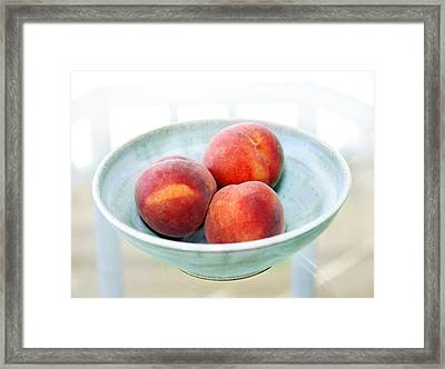 Autumn Peaches Framed Print