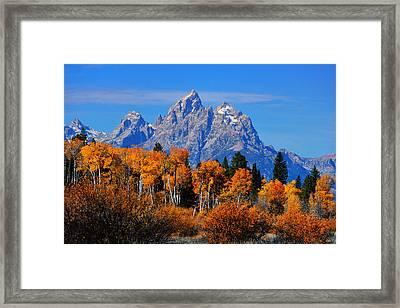 Autumn Peak Beneath The Peaks Framed Print by Greg Norrell