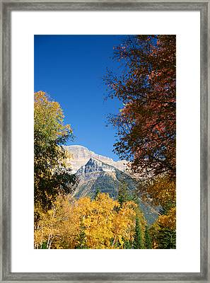 Autumn Peaks Framed Print by Lawrence Boothby