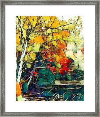 Framed Print featuring the digital art Autumn by Pennie McCracken