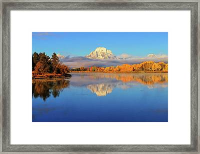 Autumn Placid Reflections Framed Print by Greg Norrell