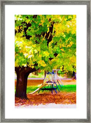 Autumn Playground Framed Print by Lanjee Chee