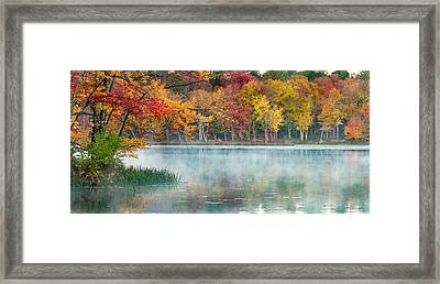 Autumn Pond Framed Print by Brian Caldwell