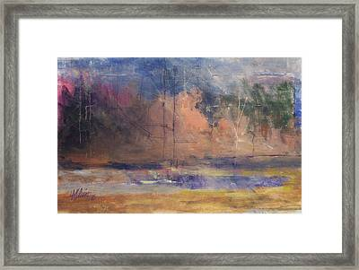 Autumn Pond Framed Print by Dalas  Klein
