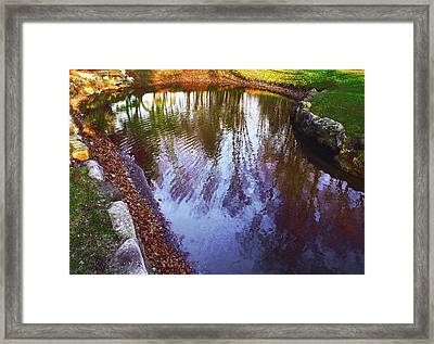 Autumn Reflection Pond Framed Print