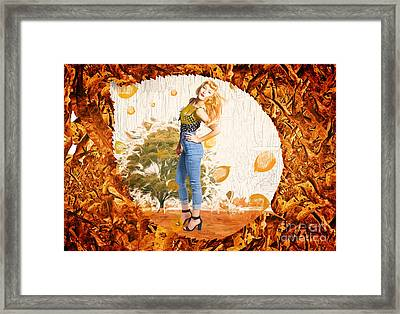 Autumn Postcard Pinup Framed Print by Jorgo Photography - Wall Art Gallery
