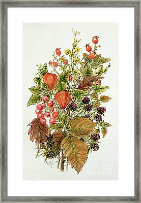 Autumn Posy Framed Print by Nell Hill