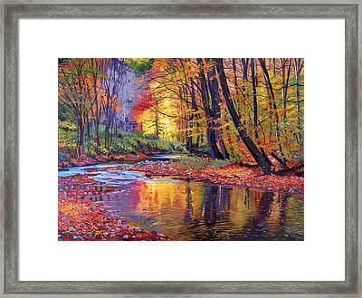 Autumn Prelude Framed Print by David Lloyd Glover