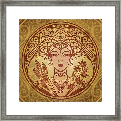 Autumn Queen Framed Print