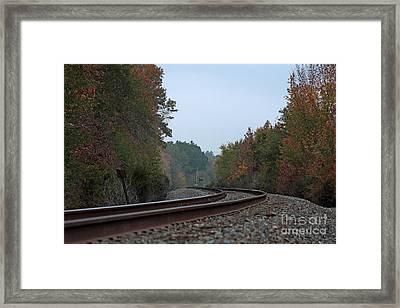 Autumn Railway Framed Print by Lisa Holmgreen