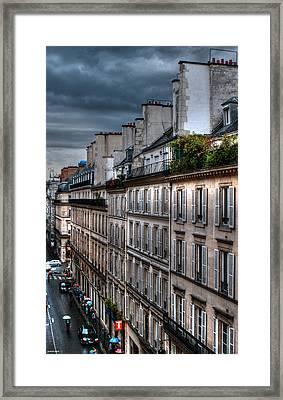 Autumn Rain Paris France Framed Print