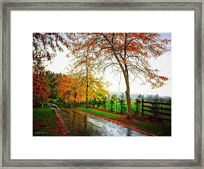Autumn Rains Framed Print