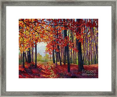 Autumn Rapture Framed Print by Hailey E Herrera