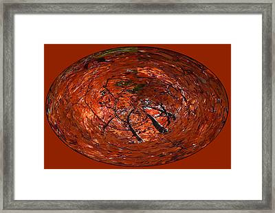 Autumn Red Trees 2015 Oval Framed Print