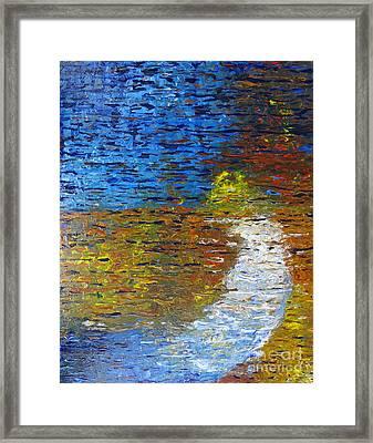 Autumn Reflection Framed Print by Jacqueline Athmann