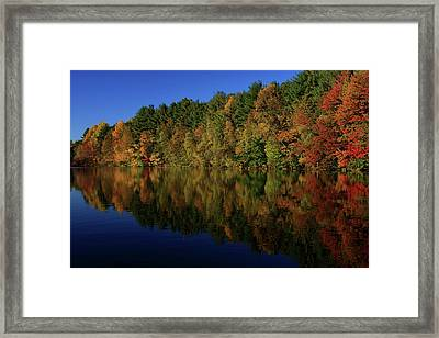 Autumn Reflection Of Colors Framed Print by Karol Livote