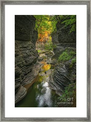 Autumn Reflections 2  Framed Print by Michael Ver Sprill