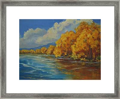 Autumn Reflections Framed Print by Celeste Drewien