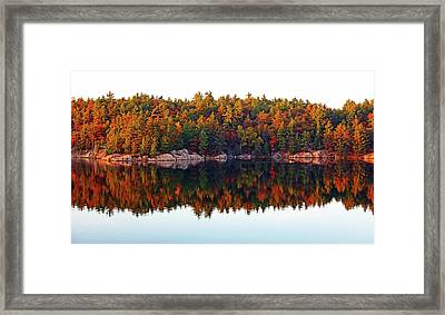 Autumn Reflections Framed Print by Debbie Oppermann