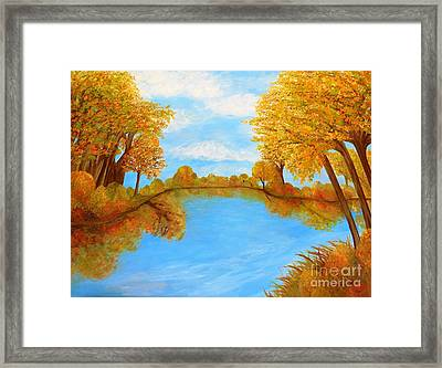 Autumn Reflections Framed Print by Eloise Schneider
