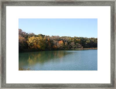 Autumn Reflections Framed Print by Gregory Jeffries