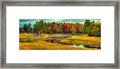 Autumn Reflections In Old Forge Framed Print by David Patterson