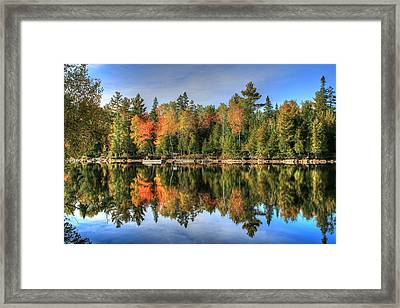 Framed Print featuring the photograph Autumn Reflections Of Maine by Shelley Neff