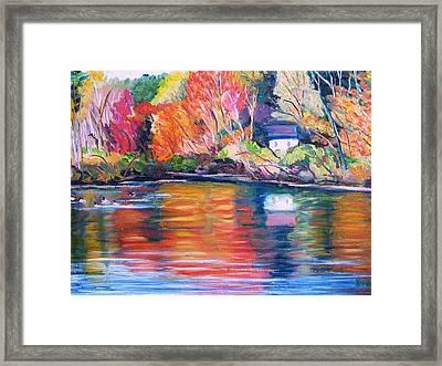 Autumn Reflections Framed Print by Richard Nowak