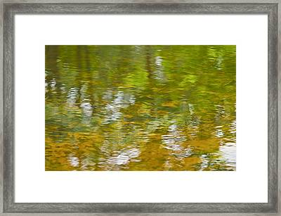 Framed Print featuring the photograph Autumn Reflections by Wanda Krack