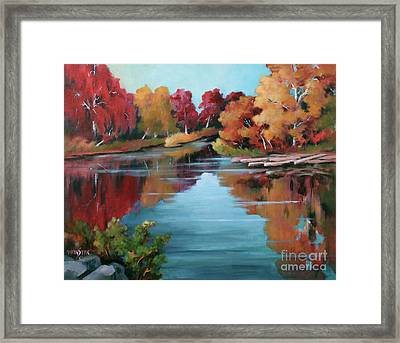 Autumn Reflexions 1 Framed Print