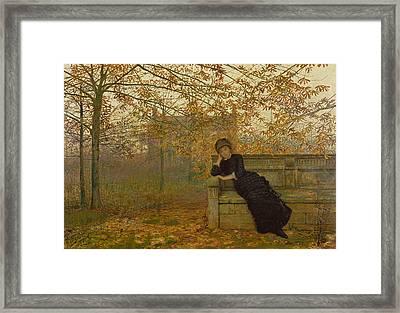 Autumn Regrets Framed Print