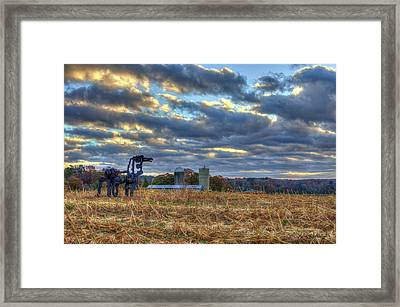 Autumn Rest The Iron Horse Sunrise Farm Art Framed Print by Reid Callaway