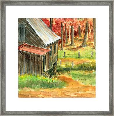 Autumn Retreat Framed Print by Barbel Amos